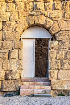Door, Temple, Ruins, Entrance, Stone, Wall, Archaeology