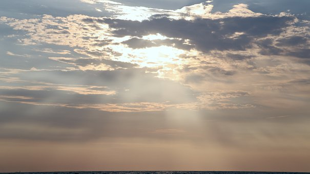 Sunrise, Horizon, Sky, Background, Clouds, Cloudscape