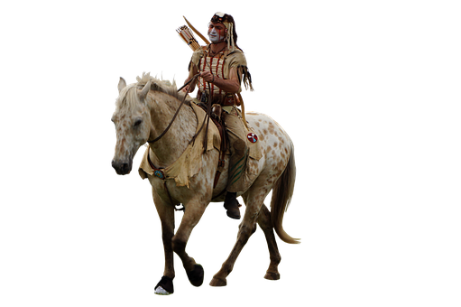 Indian, Horse, Warrior, Native