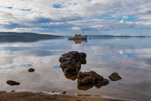 Woodbridge, Australia, Tasmania, Sea, Clouds, Reserve