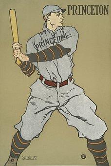 Baseball, Vintage, Retro, Princeton, Old, History, Bat