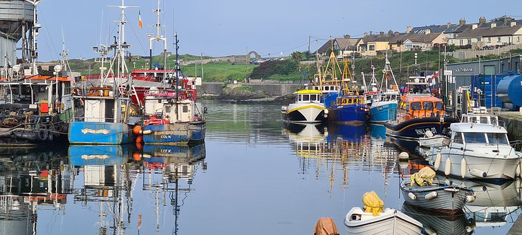 Wicklow, Harbour, Sea, Water, Nature, Landscape, Calm