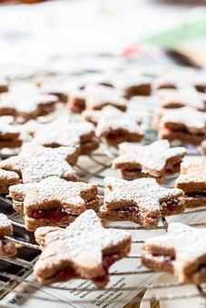 Cookies, Bake, Sweet, Stars, Dessert, Snack, Treat