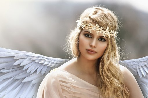 Angel, Wings, Fantasy, Female, Heavenly, Magical, Blond