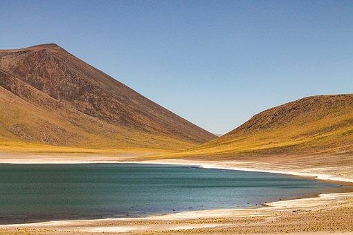 Hills, Lake, Laguna, Valley, Pond, Field, Atacama