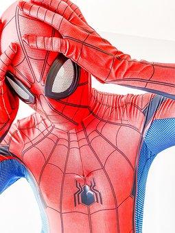 Costume, Zentai, Cosplay, Character, Spider-man, Mask