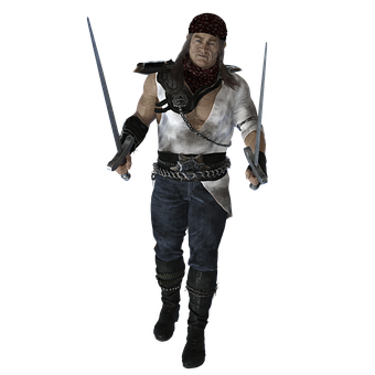 Male, 3d, Fighter, Warrior, Swords, Character