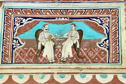India, Shekhawati, Haveli, Facade, House, Decoration