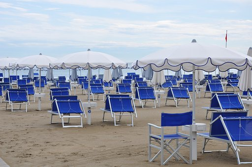 Empty Chairs In Italy, Sea, Adriatic Sea, Vacations