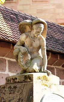 Angel, Grave, Cemetery, Sculpture, Death, Statue