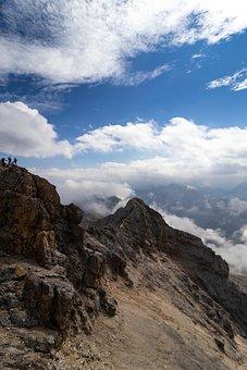 Hiking, Mountains, Panorama, Sky, Blue Sky, Clouds