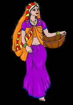 Woman, Basket, Hinduism, Rakshabandhan, Rakhi, Pongal