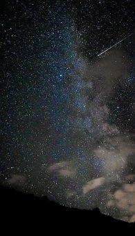 Starry Sky, Falling Star, Night Sky, Stars, Sky