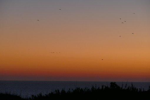 Sunset, Sardinia, Saint John Of Sinis, Sea