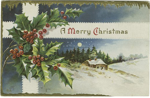 Christmas, Card, Snow, December, Decoration, House
