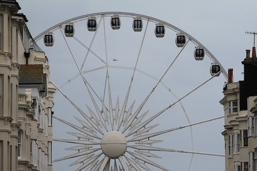 Brighton, Wheel, Ferris, Sussex, Seaside, Seafront