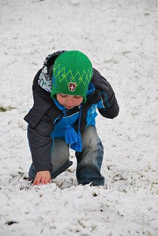 Boy, Child, Playing, Snow, Winter, Outside, Cold, Kid
