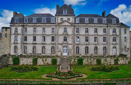 Valves, Morbihan, Ramparts Garden, Tower, Rampart, Wall