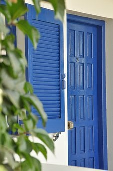 Blue Paint, Blue Door, Blue Window, Door, Window, Liège