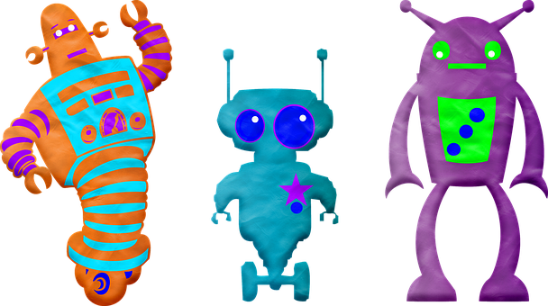 Play Doh, Clay, Plasticine, Colorful, Robots, Modeling