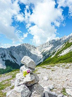 Mountains, Mountain Range, Sky, Stones, Rocks, Hike