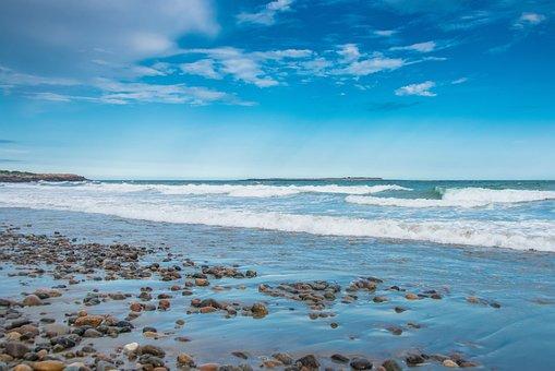 Ocean, Sea, Beach, Water, Shore, Seashore, Pebbles