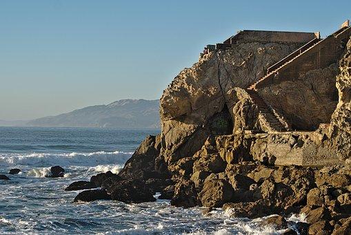 Ruins, Sea, Wave, Monument, Antique, Stone, Culture