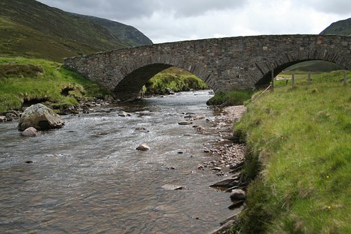 Bridge, Stone Bridge, Water, River, Stream, Brook