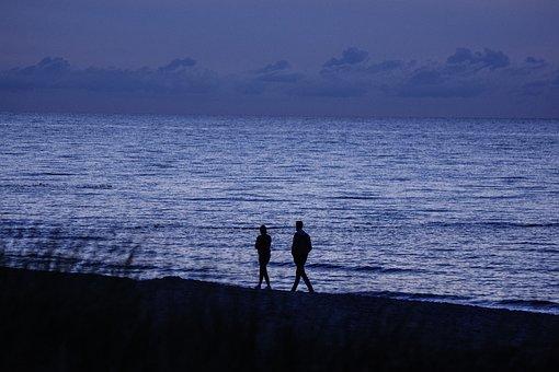 Beach, Sea, Ocean, Vacation, Walking, Strolling, Humans