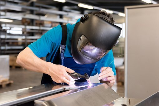 Welding, Work, Helmet, Sheet Metal Processing