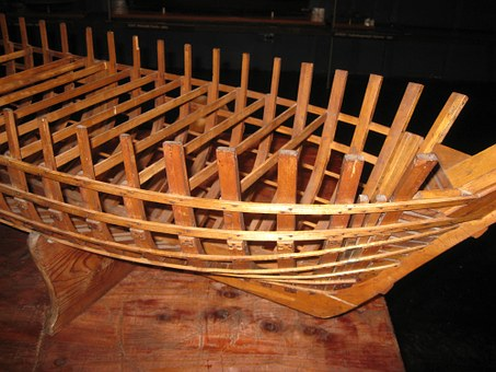 Ship, Boat, A Scale Model Of The, Frame