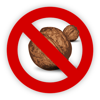 Tree Nut, Allergy, Food, Allergen, Walnut, Sign