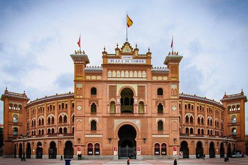 Madrid, Arena, Facade, Architecture, Bull Fighting