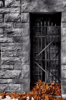 Iron, Wrought, Wall, Artistic, Antique, Old, Door