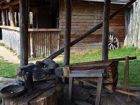 Smithy, Anvil, Medieval Smithy, Blacksmith Tools