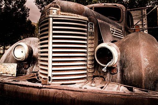 Car, Rusty, Vintage, Old, Vehicle, Metal, Steel