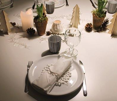 Christmas, Table, Plate, Envelope, Almost, Garnish