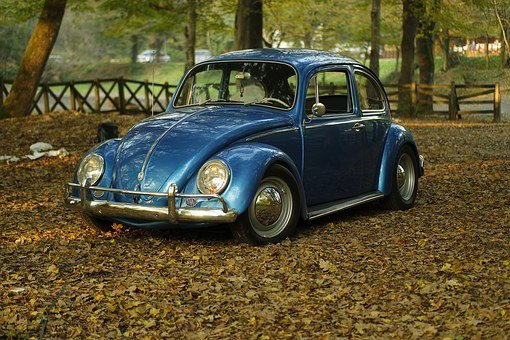 Car, Vintage, Park, Leaves, Autumn, Classic, Oldtimer