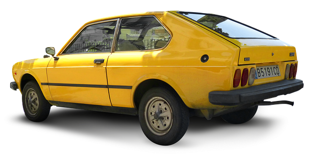 Seat 128, Antique Car, Vintage Car, Cropped Image