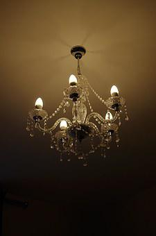 Chandelier, Light, Lighting, Lamp, Crystal Glass, Bulbs