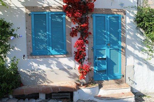 Door, Italy, Old, Tap, Well, Sculpture, Water, Antique