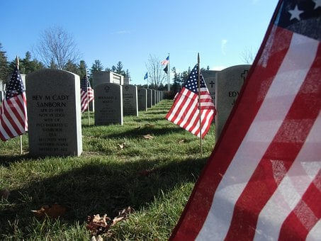 Cemetery, Graveyard, Memorial Markers, Veterans, Grave