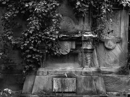 Grave, Ivy, Leave, Cemetery, Grieve, Transience