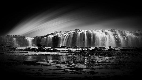 Sawarna Cave, Waterfalls, Illusion, Morning