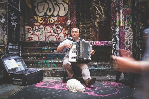 Street Performer, Musician, Music, Instrument