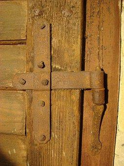 Iron Door, Antique, Ancient Crafts Memory
