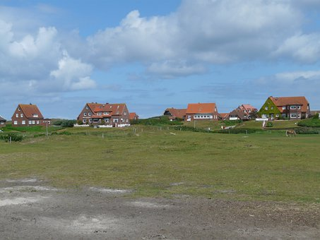 Baltrum, North Sea, Island, Village, Home, Homes