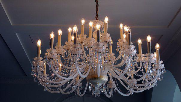 Chandelier, Gloss, Light, Rays, Crystal Chandelier