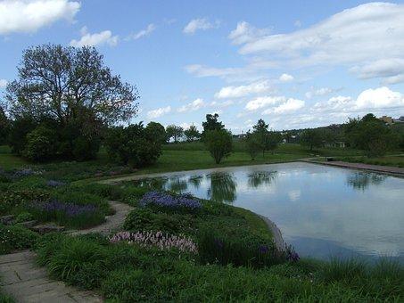 Park, Parklandschaft, Lake, Killesberg, Mood