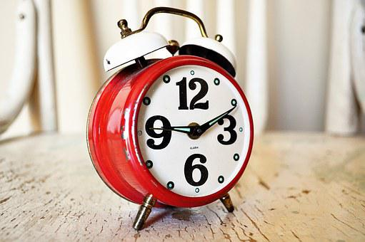 Vintage, Antique, Clock, Alarm, Red, Chair, Old